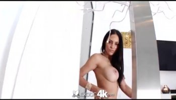 Darling acquires her sexy shaved snatch hammered