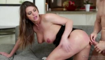 Stranded Olivia Grace gave dude a nice blow that he enjoyed