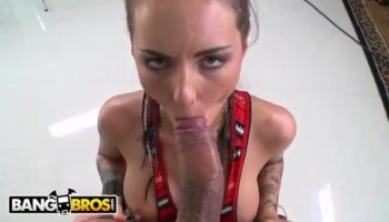 Beautiful Lana Rhoades has double penetration session during group sex