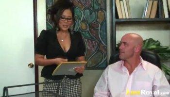 Lexi Belle has sex with her teacher Marco Banderas