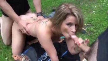 Redhead babe gets her ass hardcore ravaged